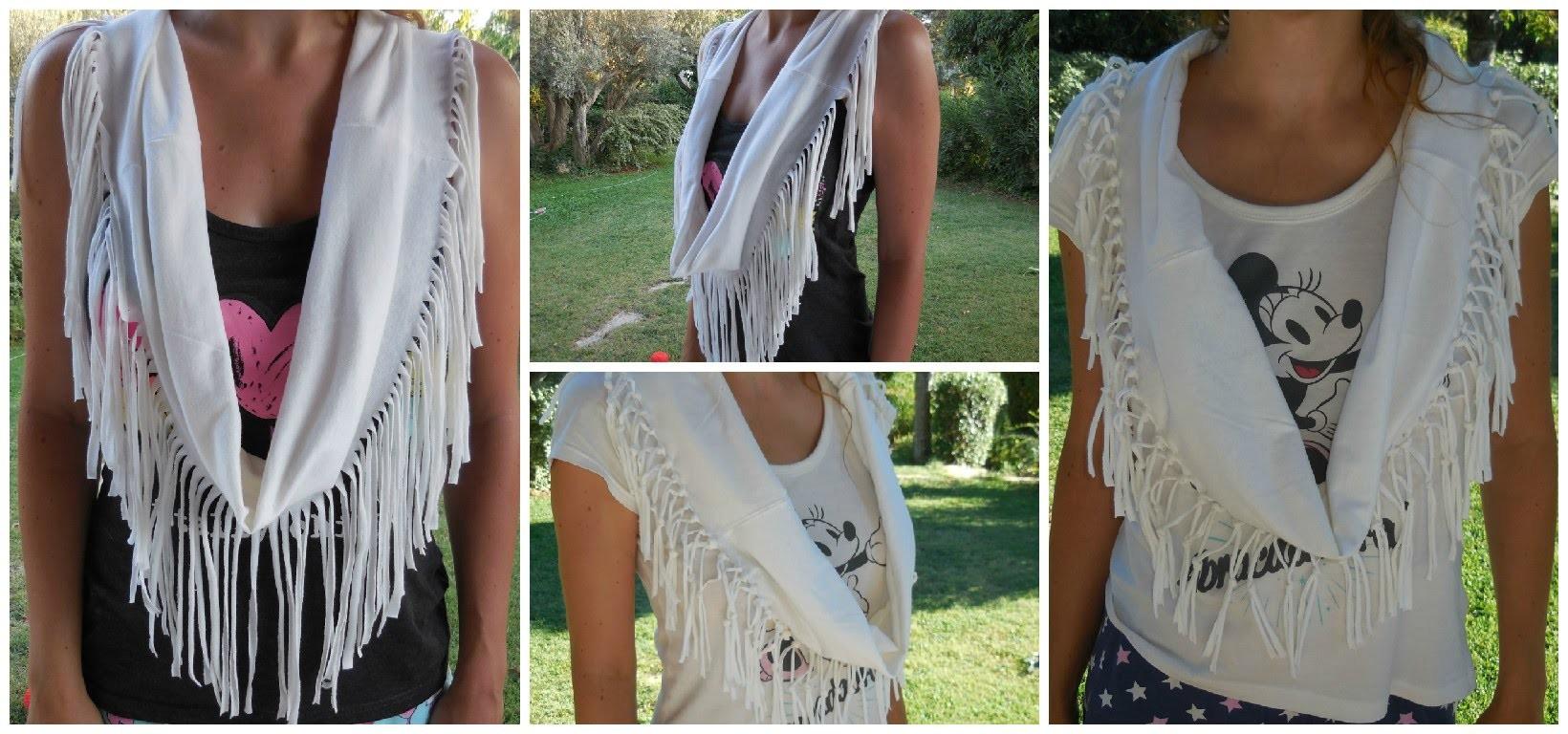 [ DIY ] ✂ Foulard à franges avec un tee-shirt. Fringe scarf from t-shirt