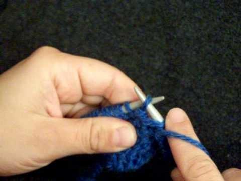 Apprendre à tricoter : tricoter une boutonnière (2.2)