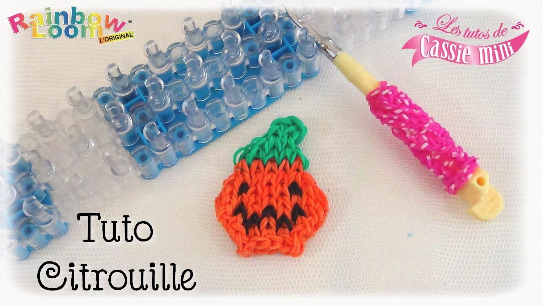 { Tuto } Citrouille en élastique Rainbow loom