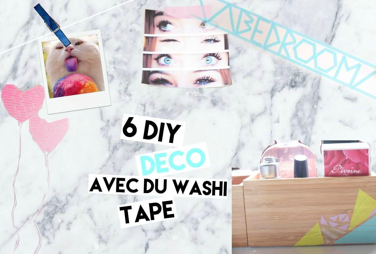 6 DIY DECO AVEC DU WASHI TAPE !