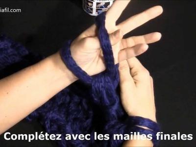 """Magia"" fil à tricoter Adriafil - Echarpe realisée avec la technique du ""Fai da te"""