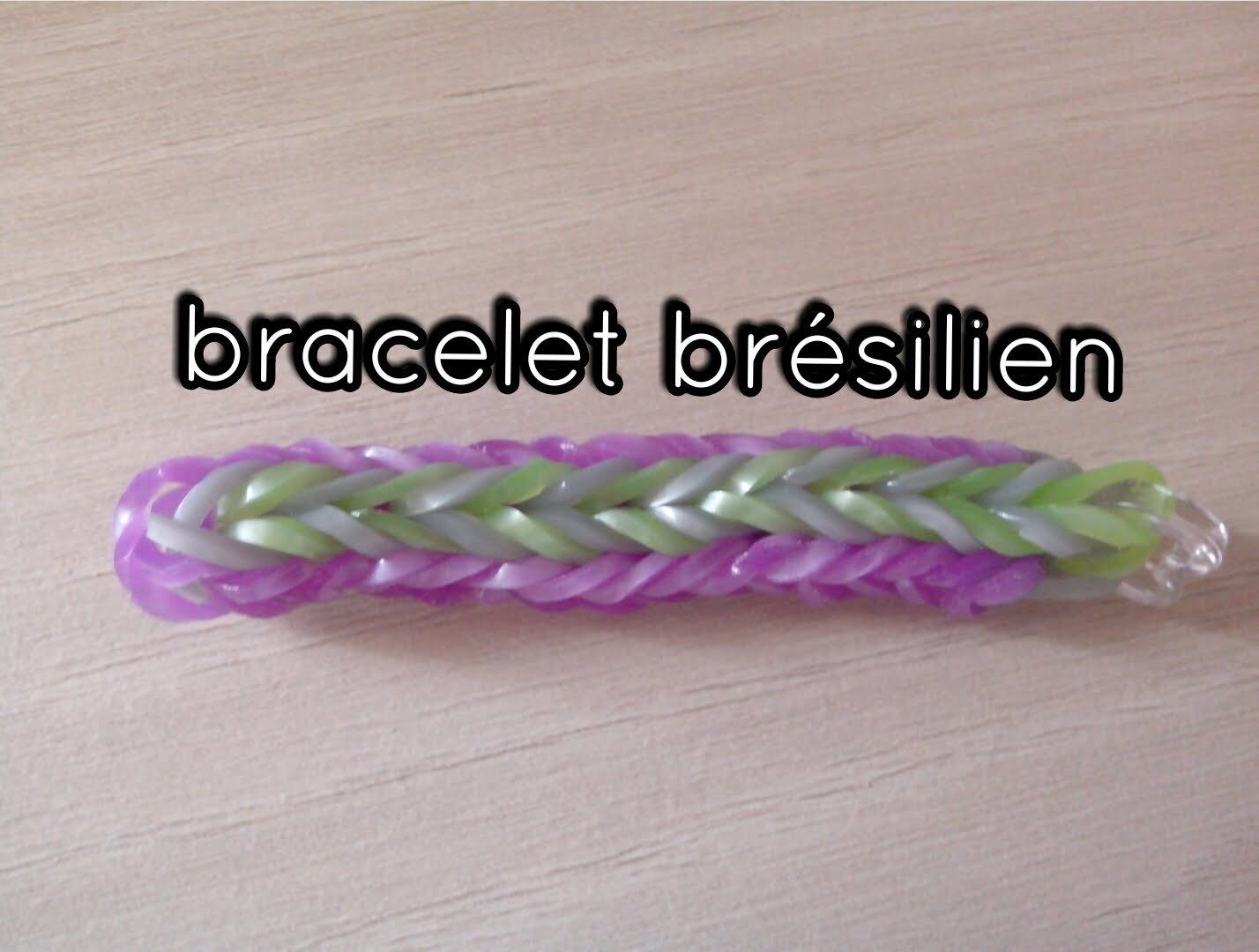 [TUTO] : bracelet brésilien rainbow loom