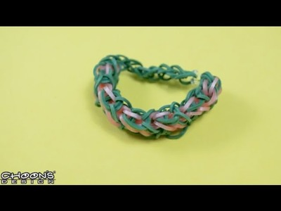 Tutoriel Rainbow Loom : Bracelet Diamants Superposés