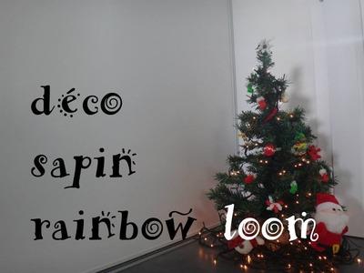 Sapin déco rainbow loom présentation +concours