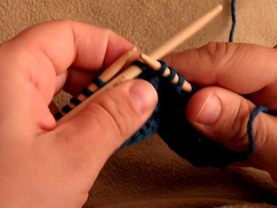 Apprendre à tricoter : torsade, décaler 2 mailles vers la droite