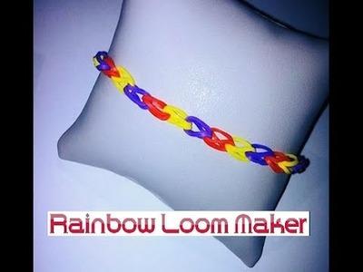 TUTO FR.EN ! Rainbow loom bracelet simpl model. tissé simple