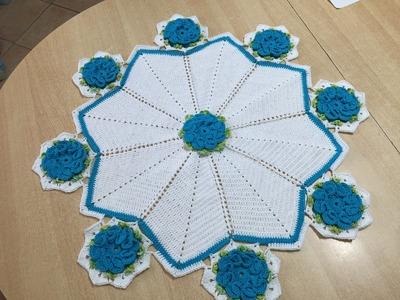 Tuto nappe, tapis rond au crochet