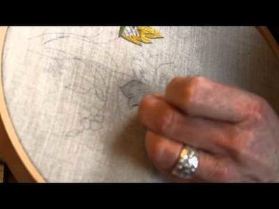 Broderie : Pascal Jaouen présente la peinture à l'aiguille au stage Miz Du 2014