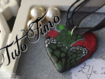 [♥✿ Tuto Fimo bijoux à partir d'une cane cru ✿♥][♥✿ Polymer Clay Tuto : jewelry from a raw cane ✿♥]