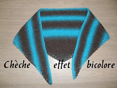 Cheche femme #2 bicolore facile, knitting easy