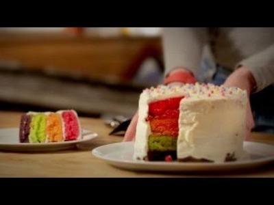 Recette -  Le rainbow cake - ELLE Cuisine