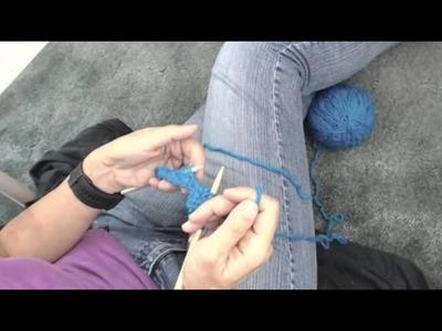 Tricoter en fausses côtes anglaises