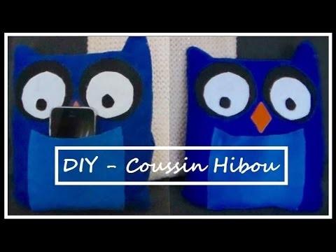 ♡ DIY coussin Hibou ♡  ☼ Porte téléphone ☼