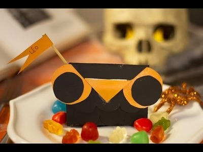 DIY Halloween - Marque-place en forme de hibou