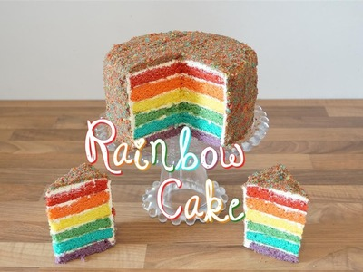 Rainbow cake la recette | How to Decorate a Rainbow Cake