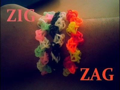 DIY : Bracelet Loom Bands ZIG ZAG. (Français)