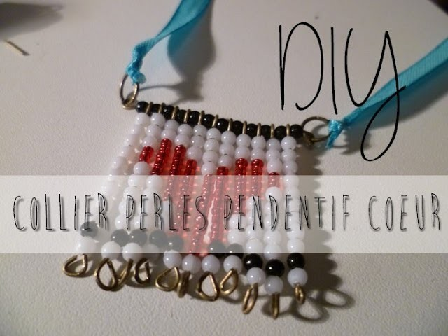 [DIY] Collier perles pendentif coeur. Pearl necklace heart !
