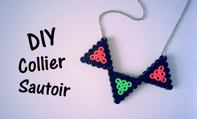 DIY Création collier sautoir en perles Hama