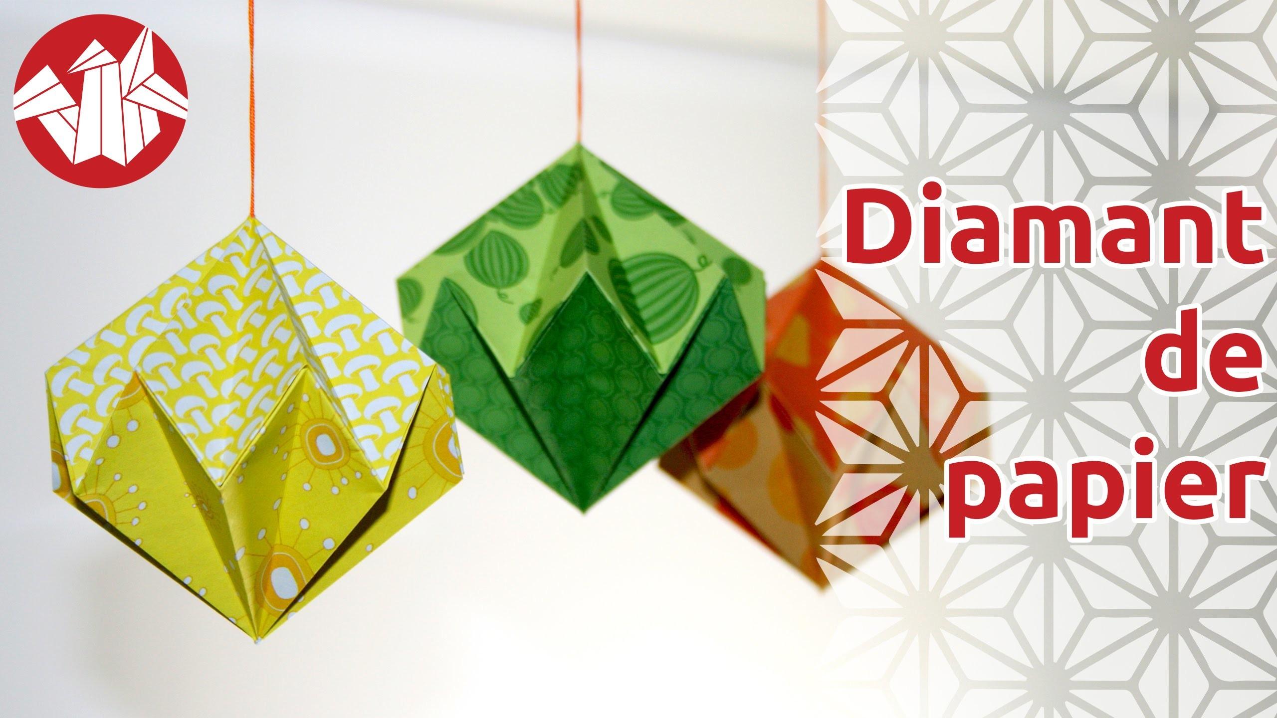 Origami - Diamant de papier - Paper Diamond [Senbazuru]