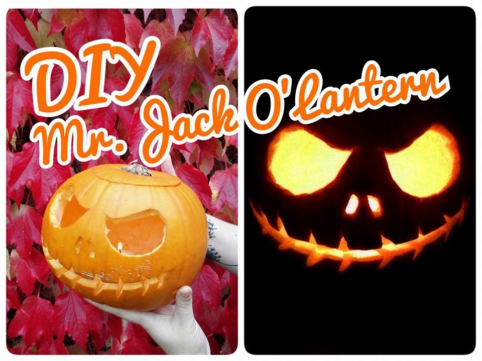 DIY Citrouille d'Halloween, Mr.Jack O'Lantern ♥