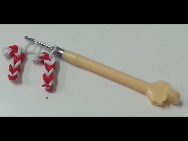 TUTO: canne en sucre d'orge en élastiques (crochet)