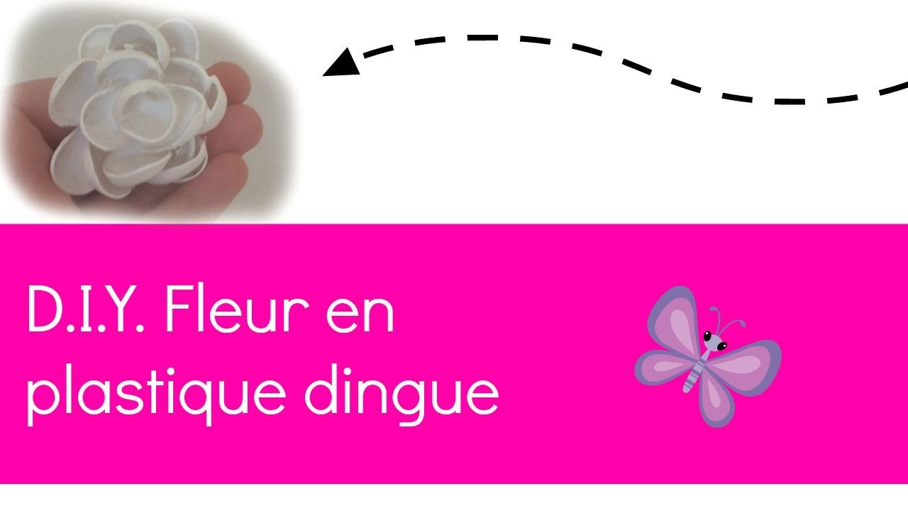 D.I.Y. Fleur en plastique dingue
