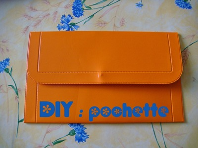 DIY : une pochette à partir d'un set de table. Facile, rapide, sans couture.