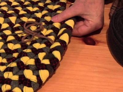 Coup d'oeil sur le tapis tressé