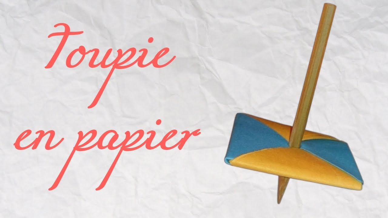 Origami ! Toupie en papier - Beyblade spinner in paper [ HD ]