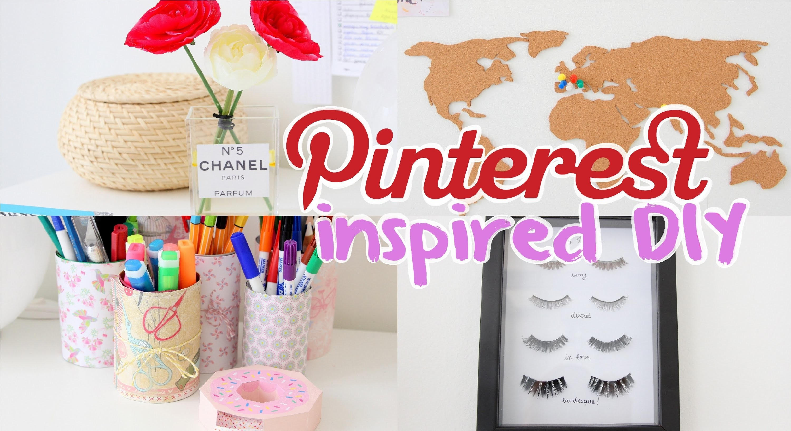 DIY n°1 ~ Pinterest inspired wall and desk decor