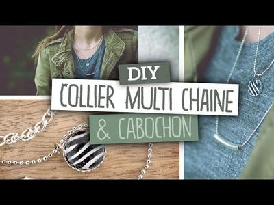 DIY Bijoux. Réaliser un collier à 3 chaines avec pendentif cabochon personnalisé