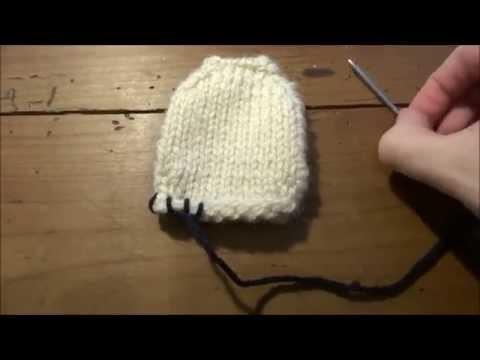 DIY  tricot moufles bébé niveau débutant