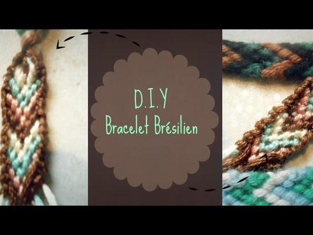 [D.I.Y n°1] - Tuto Bracelet Brésilien - Faire le contour du bracelet !