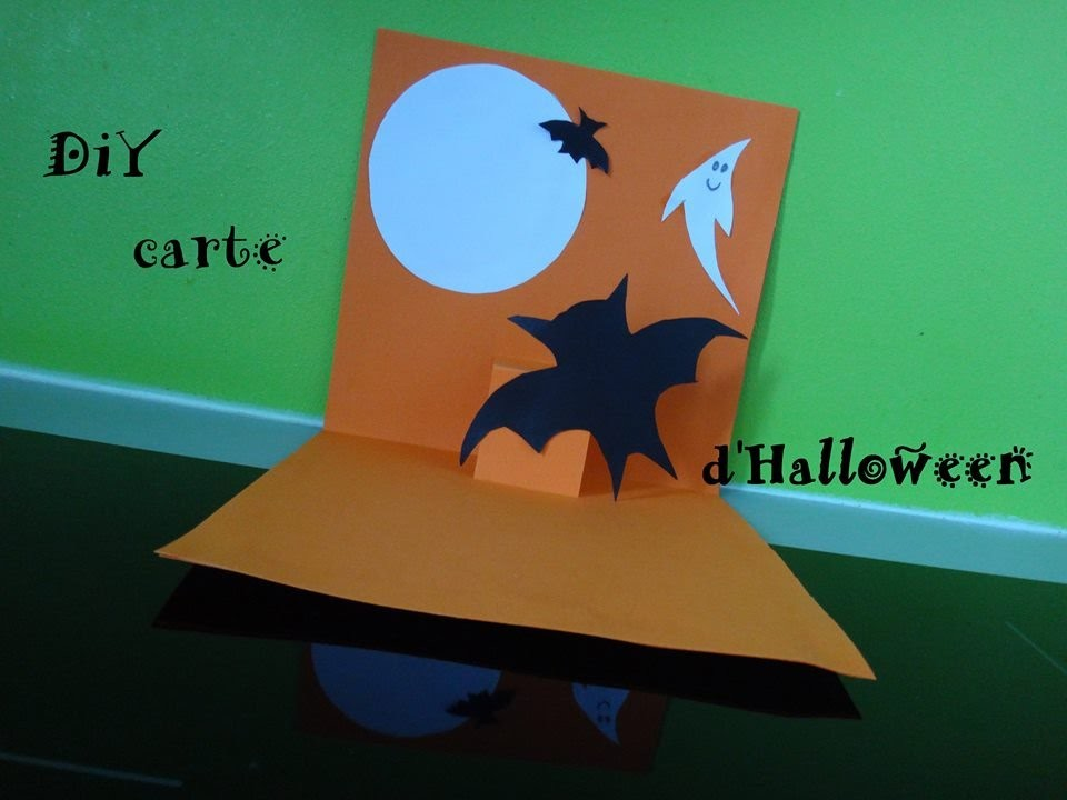 Tuto diy halloween carte 3d