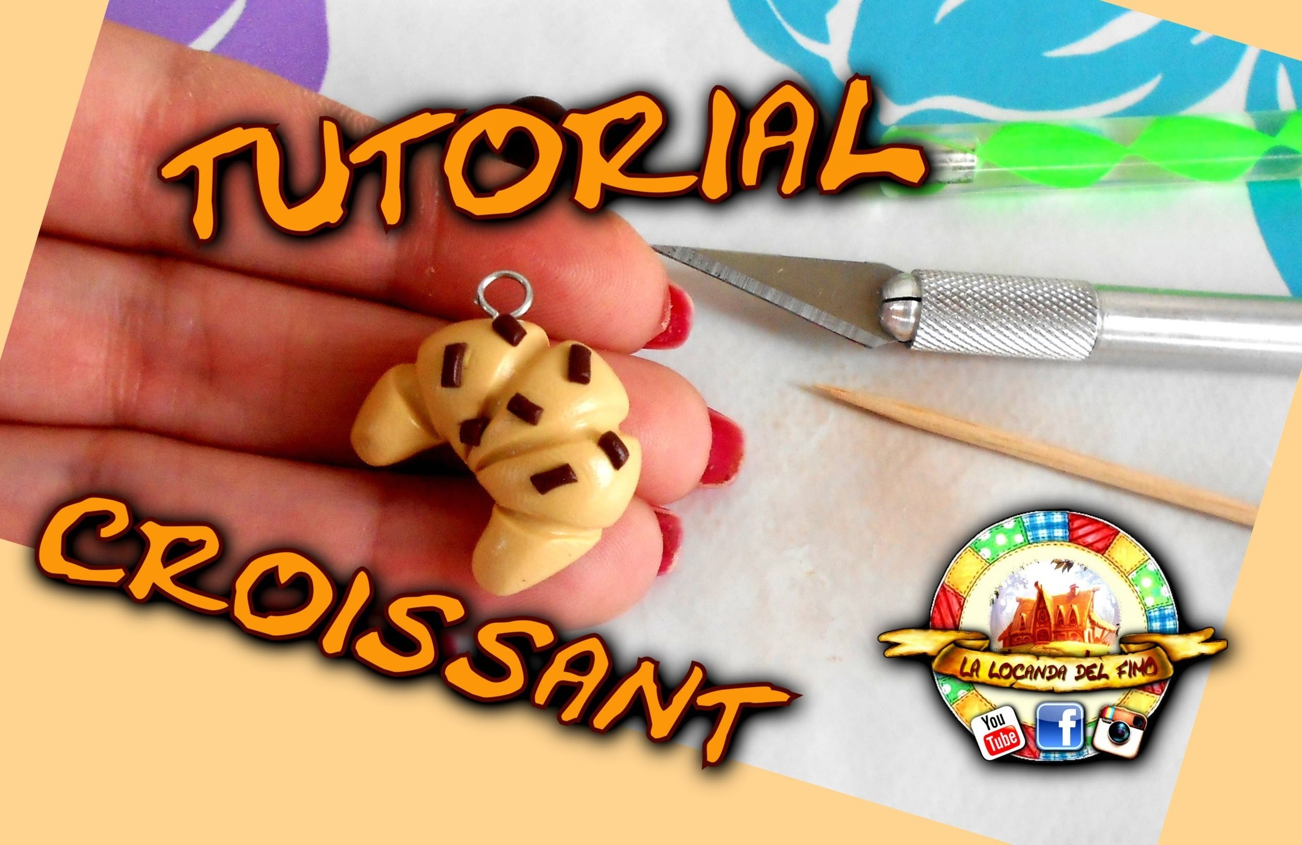 TUTORIAL FIMO --CROISSANT-- POLYMER CLAY TUTORIAL CROISSANT