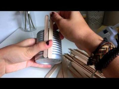 DIY : Pot à crayon en bâtonnets de glace