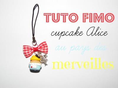 TUTO FIMO → Alice au pays des merveilles. Alice in wonderland cupcake Polymer clay tutorial