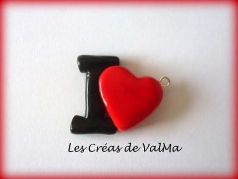 Tuto Fimo I Love Coeur. Polymer Clay Tutorial