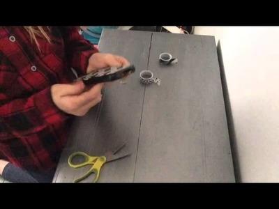 DIY coque de tel et marque page en masking tape (facile)