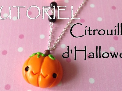 Tutoriel Fimo - La citrouille d'Halloween. Polymer Clay Tutorial - Cute Halloween pumpkin