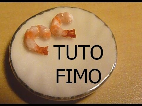 TUTO FIMO- CREVETTE. shrimp polymer clay tutorial