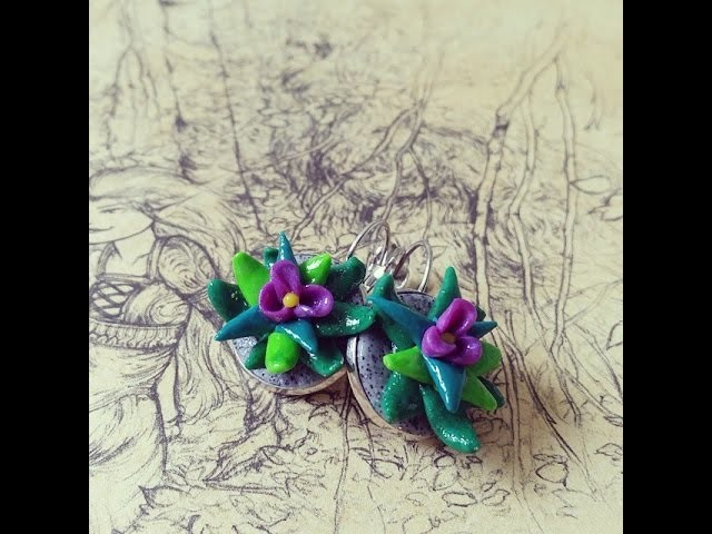 Tuto fleurs de cactus en fimo. polymer cactus flower