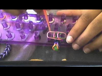 Bracelet crazy loom.rainbow loom niveau débutant !