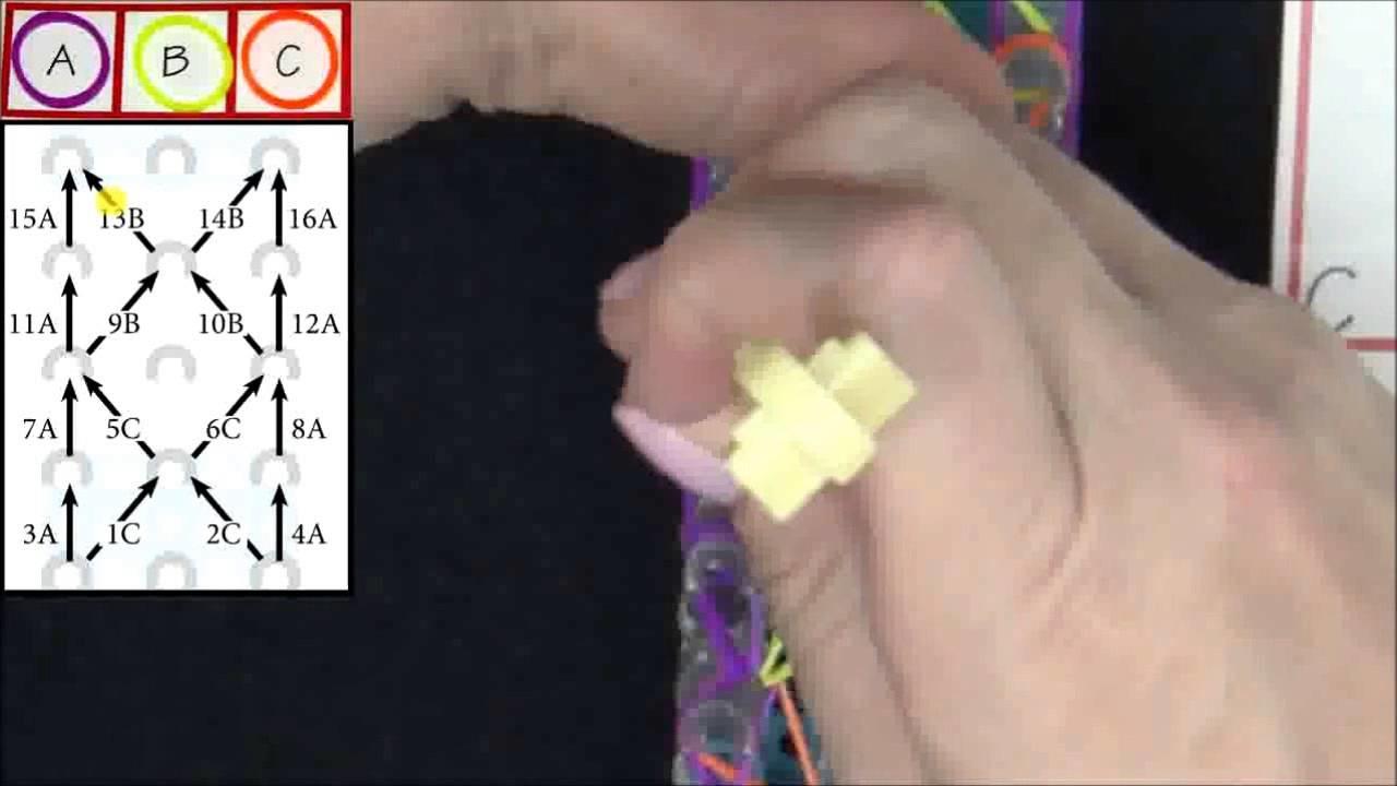 Bracelet étoile de mer Rainbow Loom France