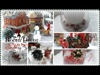 ❆ Christmas room décor + 3 D.I.Y faciles & rapides