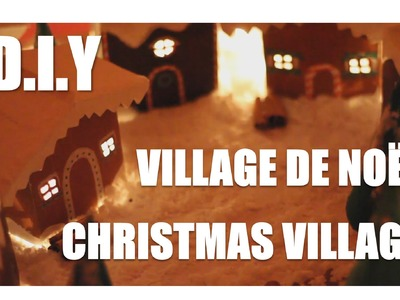 DIY►Créer un village de Noël. Create a Christmas village (Upcyling.Homemade)