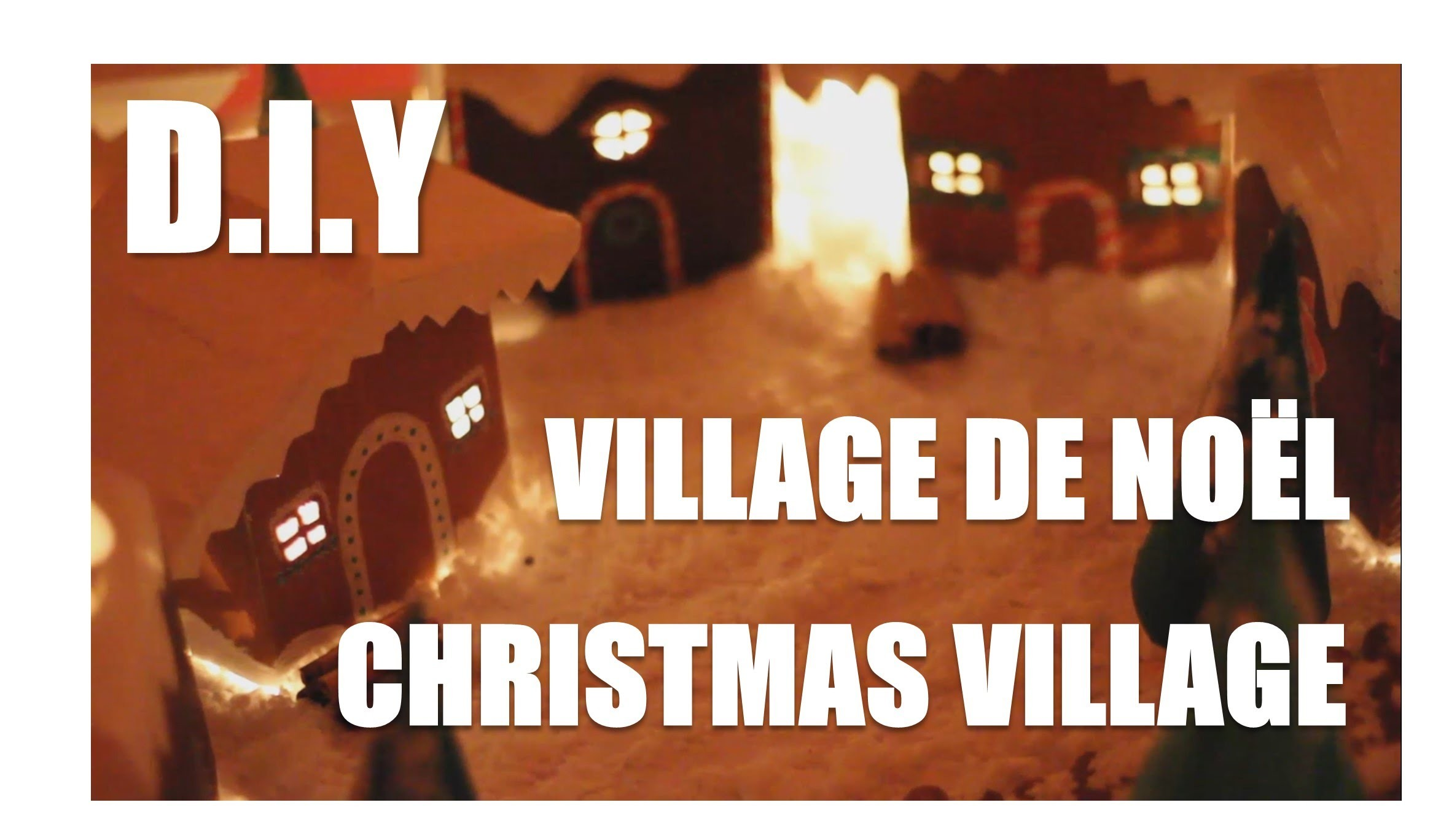 DIY►Créer un village de Noël. Create a Christmas village (Upcyling.Homemade)