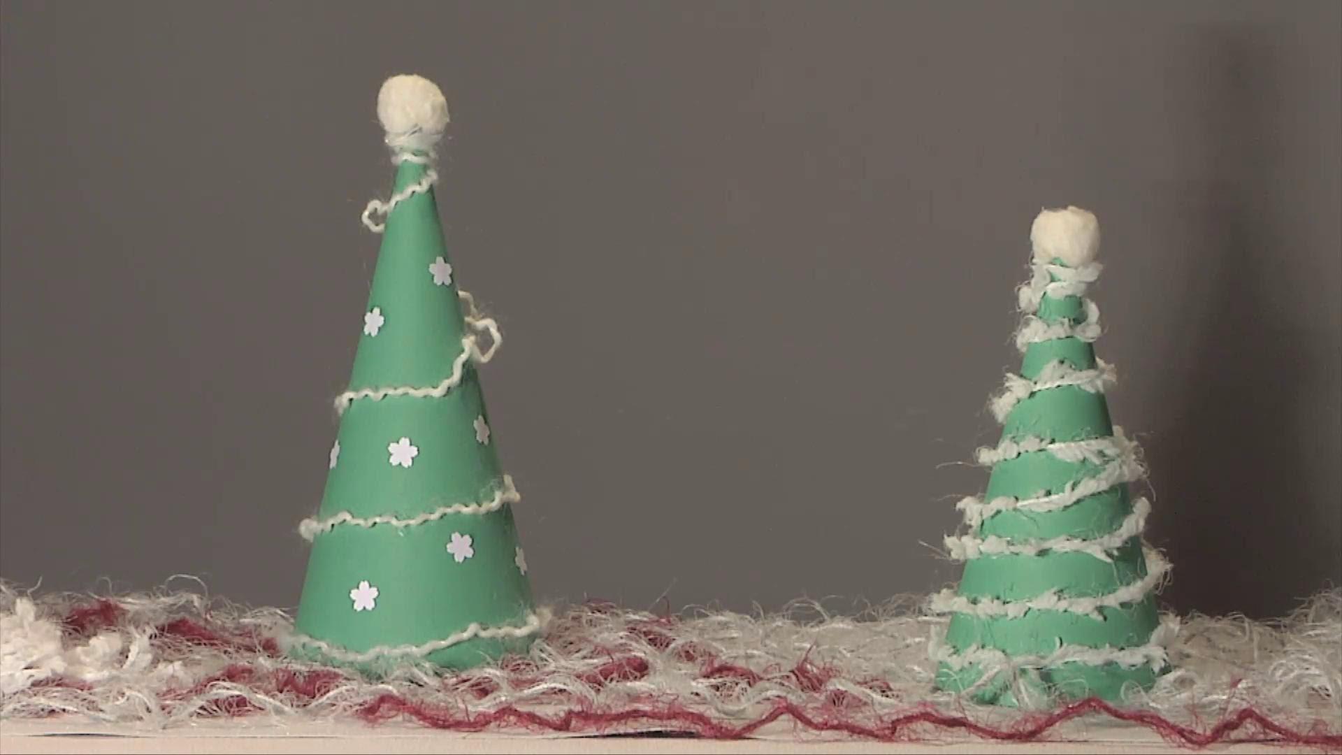 Noel déco !! Christmas decoration !! sapin cone en papier diy