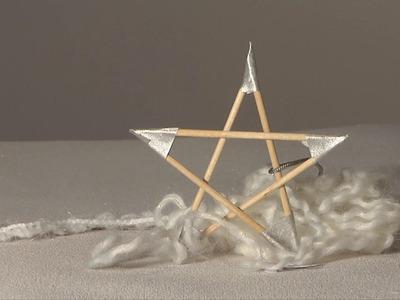 Noel déco !! Christmas decoration !! etoile cure dent diy