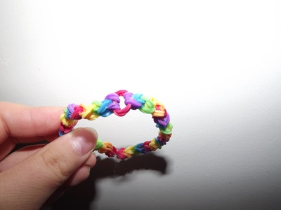 Bracelet Rainbow Loom Tordu Fin Français (HD)